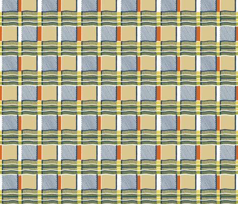 plaid-waves fabric by danab78 on Spoonflower - custom fabric