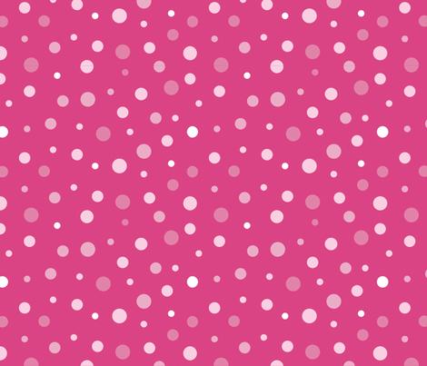 random-polkadot-pink fabric by danab78 on Spoonflower - custom fabric