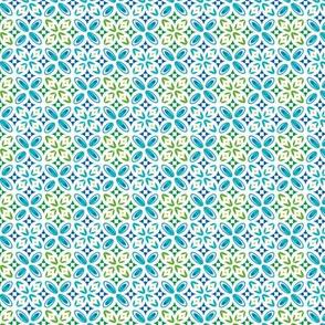 Geometric shapes green
