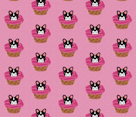 Frenchie Pupcakes fabric by missyq on Spoonflower - custom fabric