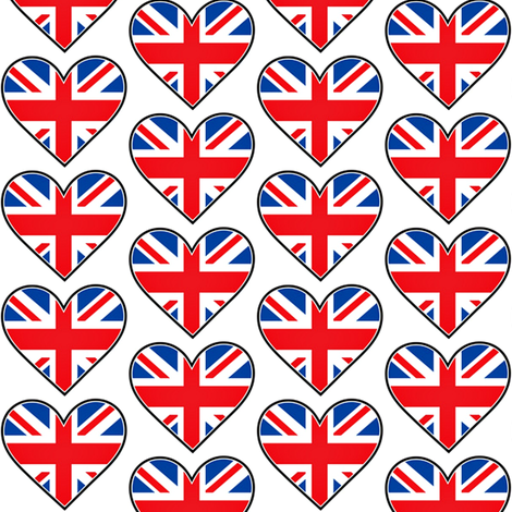 I Heart Britain fabric by sunshineandspoons on Spoonflower - custom fabric