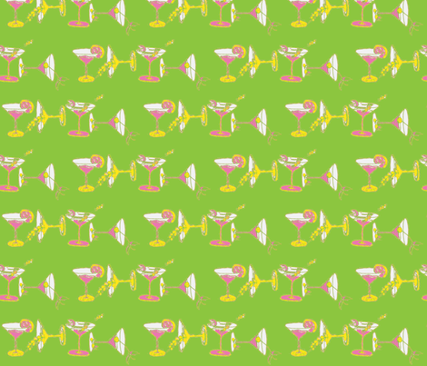 cocktailfabric_copy-PKGRY fabric by snazzyfrogs on Spoonflower - custom fabric