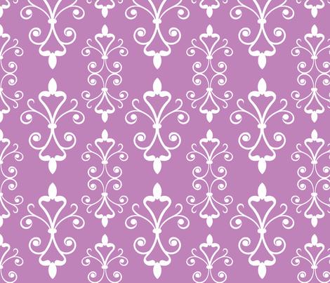 Lilac Scroll fabric by christiem on Spoonflower - custom fabric