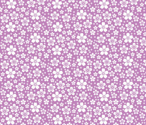 Lilac Ditsy fabric by christiem on Spoonflower - custom fabric