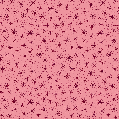 stellate whimsy - red fabric by weavingmajor on Spoonflower - custom fabric