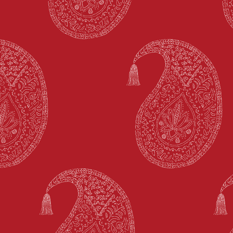 Bangalore in chili fabric by domesticate on Spoonflower - custom fabric