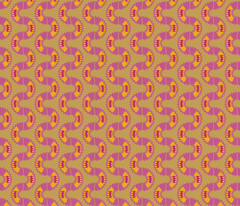 Rhodesian Snake (Pink) fabric by david_kent_collections on Spoonflower - custom fabric