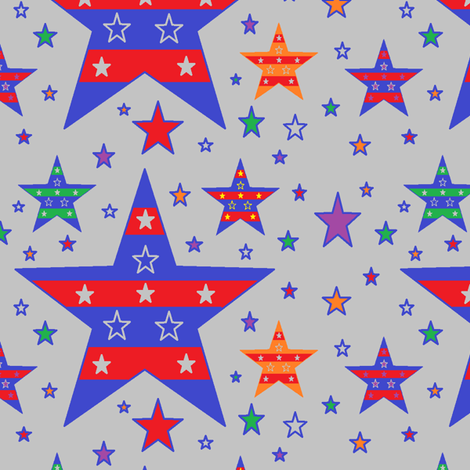 Patriotic Evening fabric by jellyfishearth on Spoonflower - custom fabric
