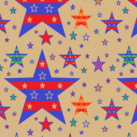 Patriotic Dusk fabric by jellyfishearth on Spoonflower - custom fabric