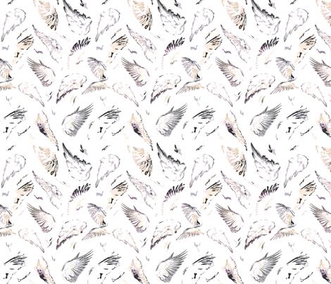 Wings fabric by purplish on Spoonflower - custom fabric