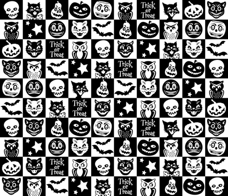 Halloween ~ Bogie Book no. 5 fabric by retrorudolphs on Spoonflower - custom fabric