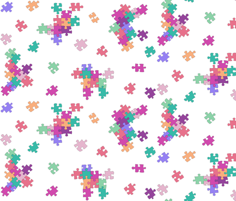 Puzzle Pieces fabric by purplish on Spoonflower - custom fabric