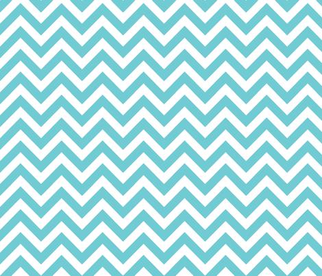 aqua chevron fabric by xoelle on Spoonflower - custom fabric