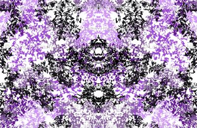 Wallpaper Floral Black & Purple