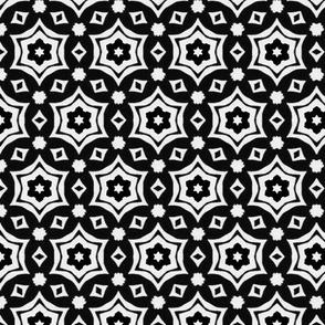 Retro Kaleidoscope Black & White