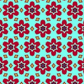 Retro Floral Red