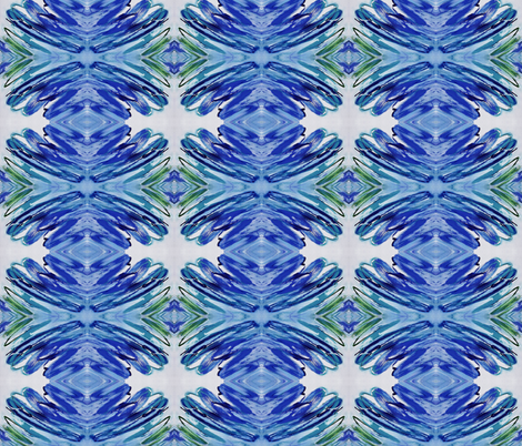 Blue Medallion fabric by flyingfish on Spoonflower - custom fabric