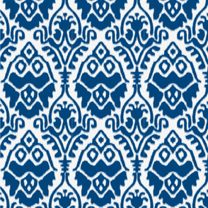 Navy and White Ikat