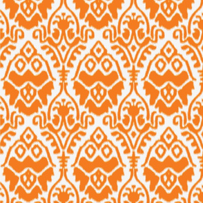 Orange and White Ikat