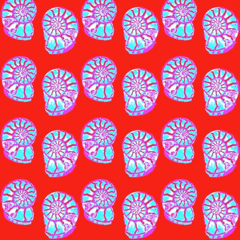 Amazing Ammonites 4 fabric by dovetail_designs on Spoonflower - custom fabric
