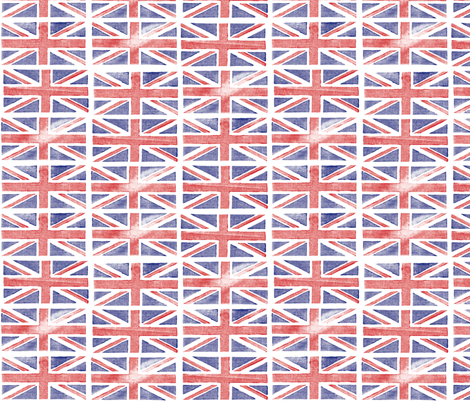 Jubilee Jack || Union Jack United Kingdom flag England London royalty Britain British queen patriotic fabric by pennycandy on Spoonflower - custom fabric