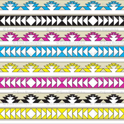 navajo triangles - cmyk