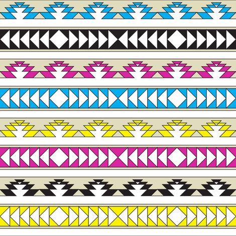 navajo triangles - cmyk fabric by ravynka on Spoonflower - custom fabric