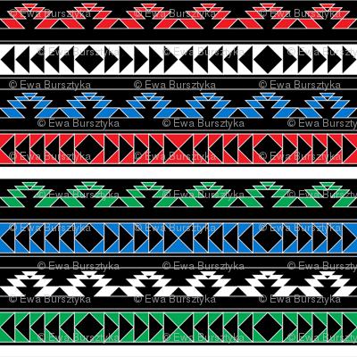 navajo triangles - rgb