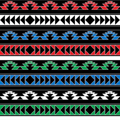 navajo triangles - rgb fabric by ravynka on Spoonflower - custom fabric
