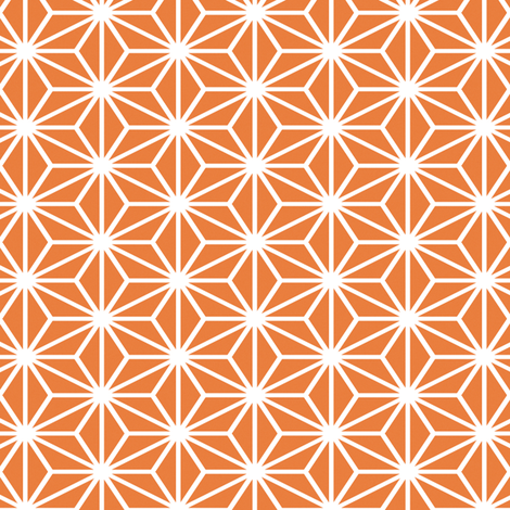 Simple Blocks, Tangerine fabric by animotaxis on Spoonflower - custom fabric