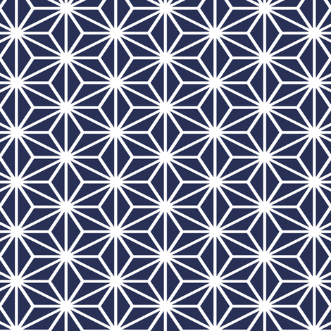 Simple Blocks, Navy fabric by animotaxis on Spoonflower - custom fabric