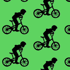 BikeBoyGreenBackground