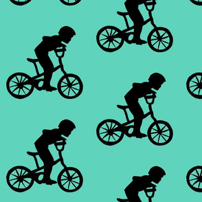 BikeBoyTurquoiseBackground