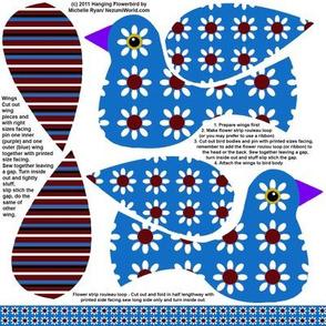 Hanging Flowerbird - Blue