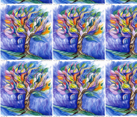 Tree of Life Watercolor_Swatch fabric by tree_of_life on Spoonflower - custom fabric