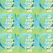 Keep Calm Mixed Media Blues and Greens