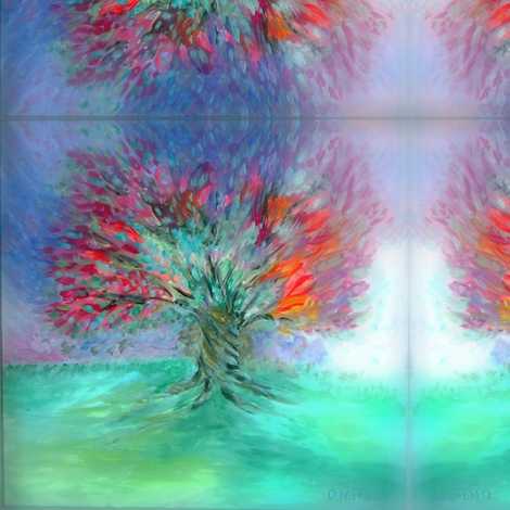 Tree of Life Cool Soft Focus_Swatch fabric by tree_of_life on Spoonflower - custom fabric