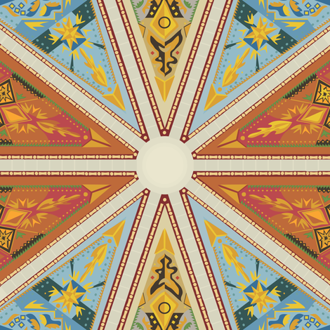 Cathedral fabric by bartlett&craft on Spoonflower - custom fabric