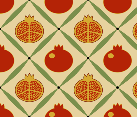 pomegranate2 fabric by mgterry on Spoonflower - custom fabric