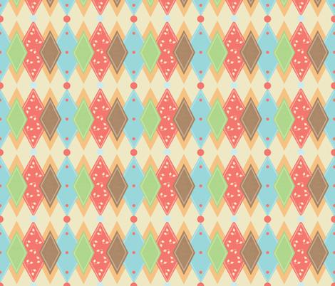 Birdie_small_Harlaquin fabric by lana_gordon_rast_ on Spoonflower - custom fabric