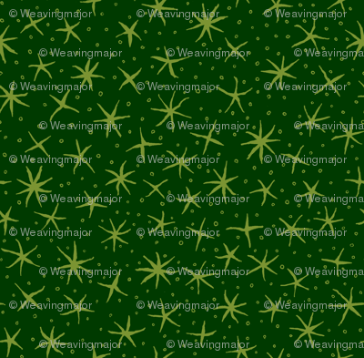 stellate whimsy - green