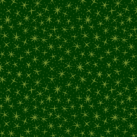 stellate whimsy - green fabric by weavingmajor on Spoonflower - custom fabric