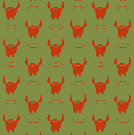 Saint Patrick's Beard fabric by magneticcatholic on Spoonflower - custom fabric