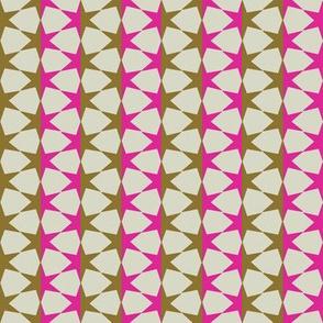 starstripe (khaki & hot pink)