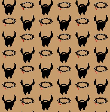 The Beard of Jesus fabric by magneticcatholic on Spoonflower - custom fabric