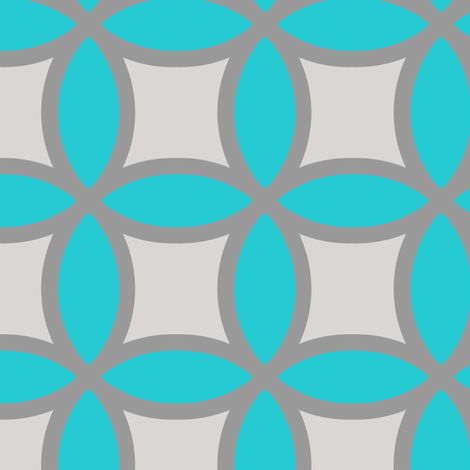 Blue Gray Circles fabric by alihenrie on Spoonflower - custom fabric