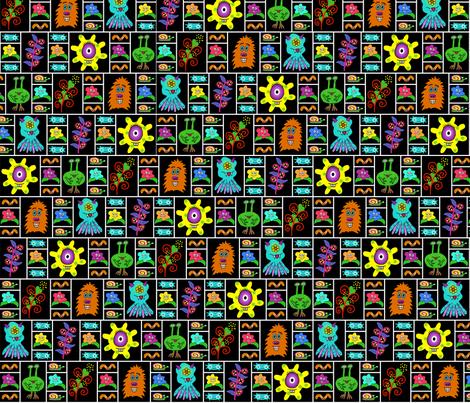 Monster Garden Panels fabric by mudpiesandpins on Spoonflower - custom fabric