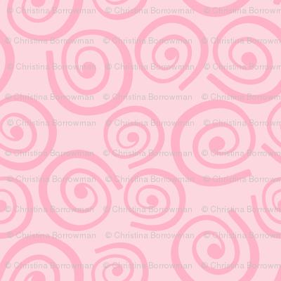 Cupcakes and Swirls Collection - Swirls on Pink by JoyfulRose