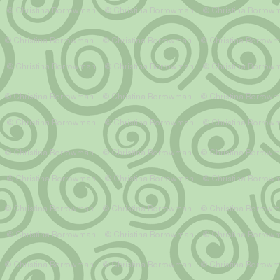 Cupcakes and Swirls Collection - Swirls on Green by JoyfulRose