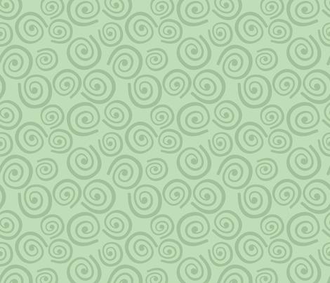 Cupcakes and Swirls Collection - Swirls on Green by JoyfulRose fabric by joyfulrose on Spoonflower - custom fabric